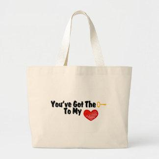 You've Got The Key To My Heart Tote Bag