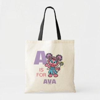 A is for Abby Cadabby | Add Your Name Tote Bag