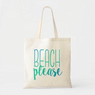Beach Please | Turquoise Ombre Tote Bag