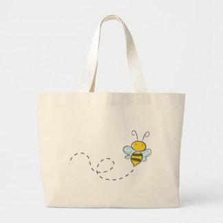 Busy Bumble Bee Large Tote Bag