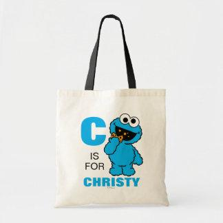 C is for Cookie Monster | Add Your Name Tote Bag