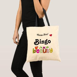 Custom Name or Text Beautiful Bingo Player Cute Tote Bag