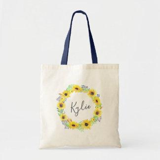 Flowerfields Personalized Tote Bag