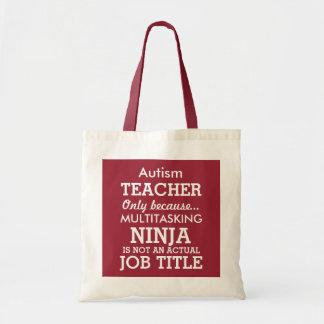 Funny Autism Special Needs Teacher Tote Bag
