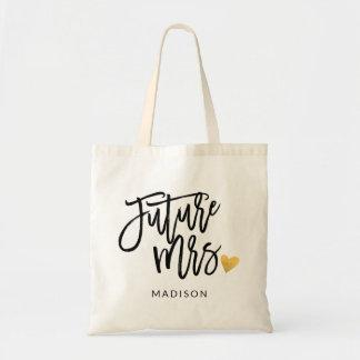 Future Mrs Calligraphy Tote Bag