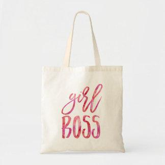 Girl Boss | Pink Watercolor Tote Bag