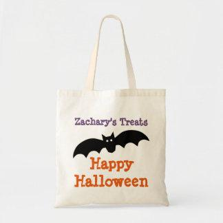 Halloween Black Bat Personalized Treat Bag
