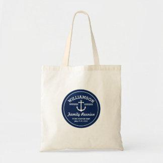 Nautical Anchor Family Reunion Trip Cruise Beach Tote Bag
