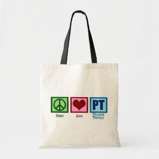 Peace Love Physical Therapist Tote Bag