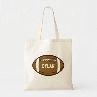 Personalized Football for Boys who love Sports Tote Bag