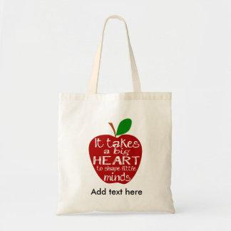 red apple Teacher Apple thank you Nursery Tote Bag