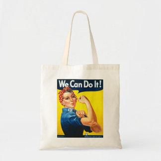Rosie the Riveter We Can Do It World War Two Tote Bag