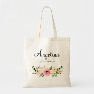 Rustic Floral Bridesmaid Personalized-03 Tote Bag