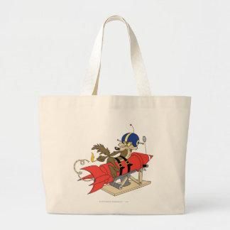 Wile E. Coyote Launching Red Rocket Large Tote Bag
